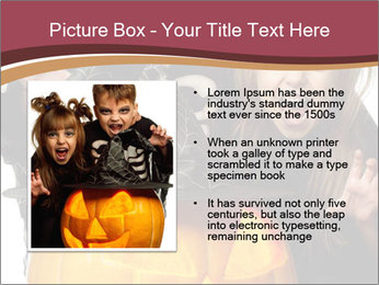 Boy and girl wearing halloween PowerPoint Template - Slide 13