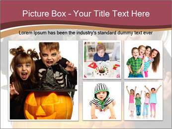 Boy and girl wearing halloween PowerPoint Template - Slide 19