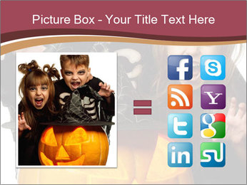Boy and girl wearing halloween PowerPoint Template - Slide 21