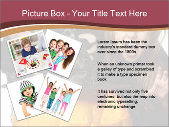 Boy and girl wearing halloween PowerPoint Template - Slide 23