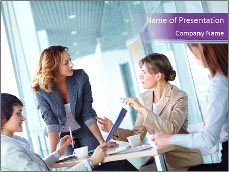 Lovely business ladies PowerPoint Templates