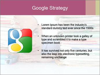 Bald office worker PowerPoint Template - Slide 10