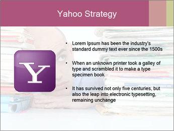 Bald office worker PowerPoint Template - Slide 11