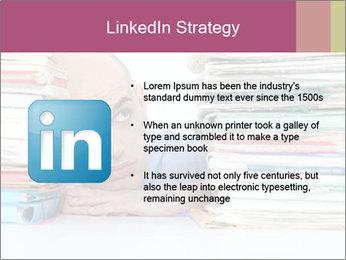 Bald office worker PowerPoint Template - Slide 12
