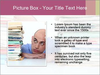 Bald office worker PowerPoint Template - Slide 13