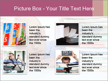 Bald office worker PowerPoint Template - Slide 14