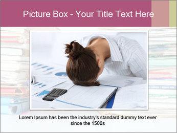 Bald office worker PowerPoint Template - Slide 16