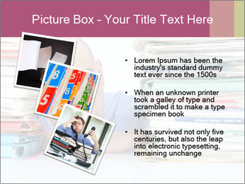 Bald office worker PowerPoint Template - Slide 17