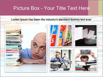 Bald office worker PowerPoint Template - Slide 19