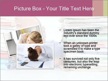 Bald office worker PowerPoint Template - Slide 20