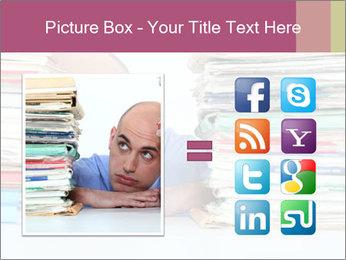 Bald office worker PowerPoint Template - Slide 21