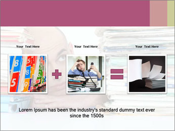 Bald office worker PowerPoint Template - Slide 22