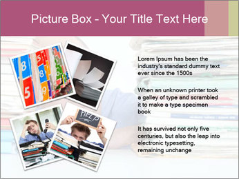 Bald office worker PowerPoint Template - Slide 23