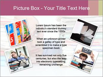 Bald office worker PowerPoint Template - Slide 24