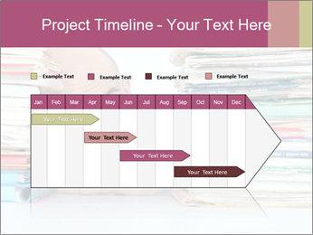 Bald office worker PowerPoint Template - Slide 25