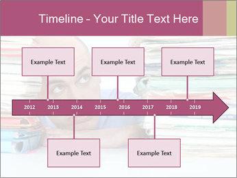 Bald office worker PowerPoint Template - Slide 28