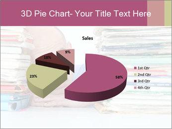 Bald office worker PowerPoint Template - Slide 35