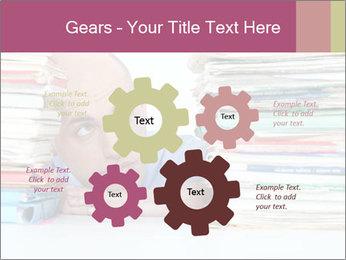 Bald office worker PowerPoint Template - Slide 47