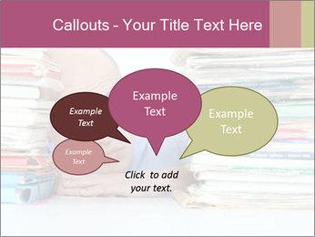 Bald office worker PowerPoint Template - Slide 73