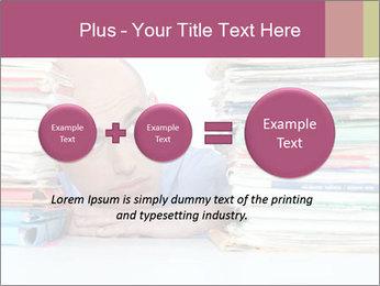 Bald office worker PowerPoint Template - Slide 75