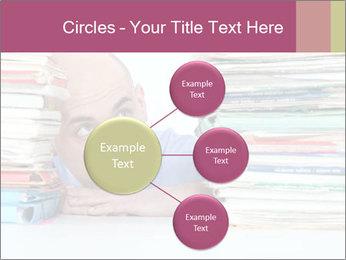 Bald office worker PowerPoint Template - Slide 79