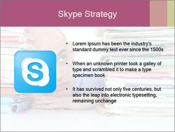 Bald office worker PowerPoint Template - Slide 8