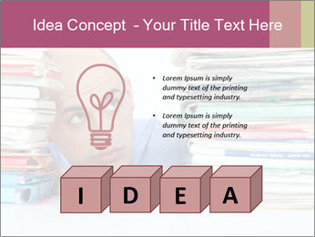 Bald office worker PowerPoint Template - Slide 80
