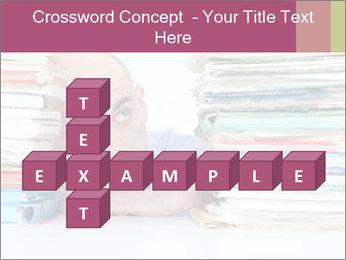 Bald office worker PowerPoint Template - Slide 82