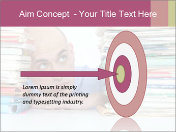 Bald office worker PowerPoint Template - Slide 83