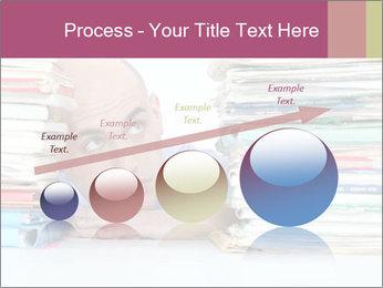 Bald office worker PowerPoint Template - Slide 87