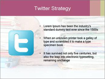 Bald office worker PowerPoint Template - Slide 9