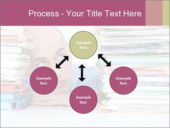 Bald office worker PowerPoint Template - Slide 91