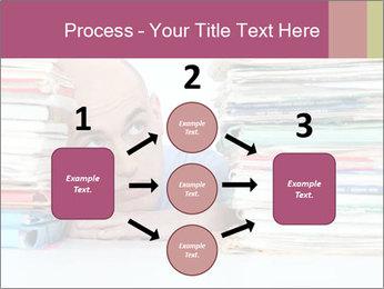 Bald office worker PowerPoint Template - Slide 92