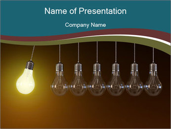 Light bulbs PowerPoint sunum şablonları