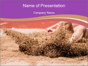 Landing in long jump PowerPoint Template