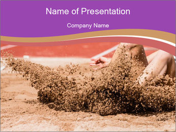 Landing in long jump PowerPoint Template - Slide 1