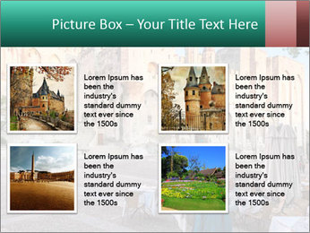 Pope palace in Avignon PowerPoint Templates - Slide 14