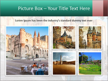 Pope palace in Avignon PowerPoint Templates - Slide 19