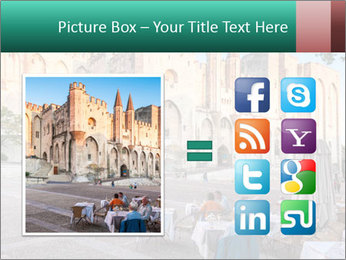 Pope palace in Avignon PowerPoint Templates - Slide 21