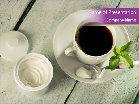 White stevia PowerPoint Template