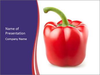 Red pepper PowerPoint Template - Slide 1
