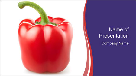 Red pepper PowerPoint Template