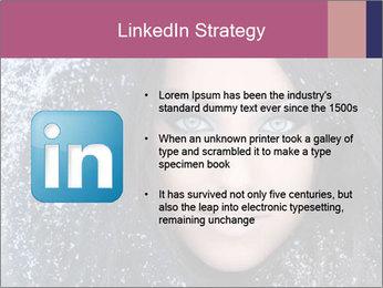 Woman in a snowy furry hood PowerPoint Template - Slide 12