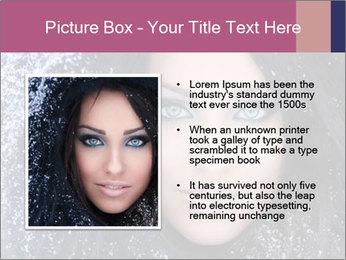 Woman in a snowy furry hood PowerPoint Template - Slide 13