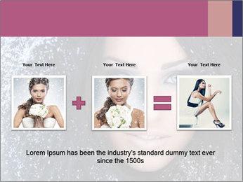 Woman in a snowy furry hood PowerPoint Template - Slide 22