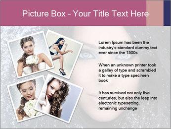 Woman in a snowy furry hood PowerPoint Template - Slide 23