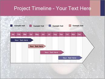 Woman in a snowy furry hood PowerPoint Template - Slide 25
