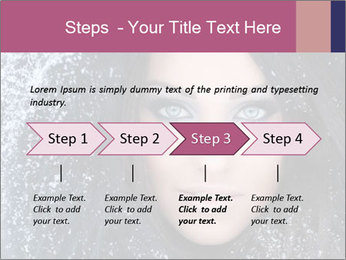 Woman in a snowy furry hood PowerPoint Template - Slide 4