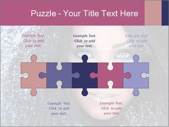 Woman in a snowy furry hood PowerPoint Template - Slide 41