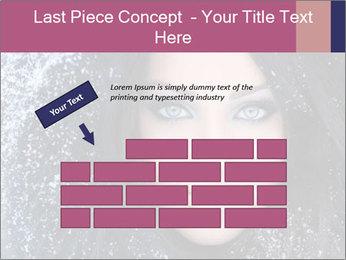 Woman in a snowy furry hood PowerPoint Template - Slide 46